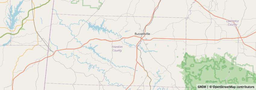 Mappa Alabama Stone Co