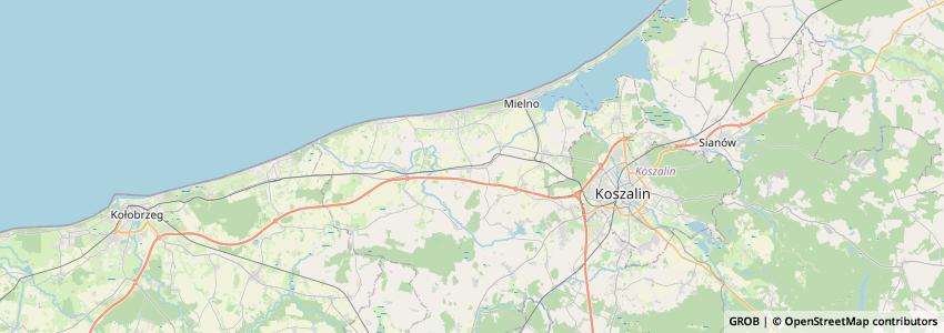 Mappa Gmina Będzino
