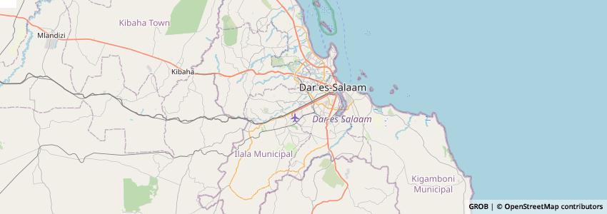 Mappa Dar Es Salaam Airport
