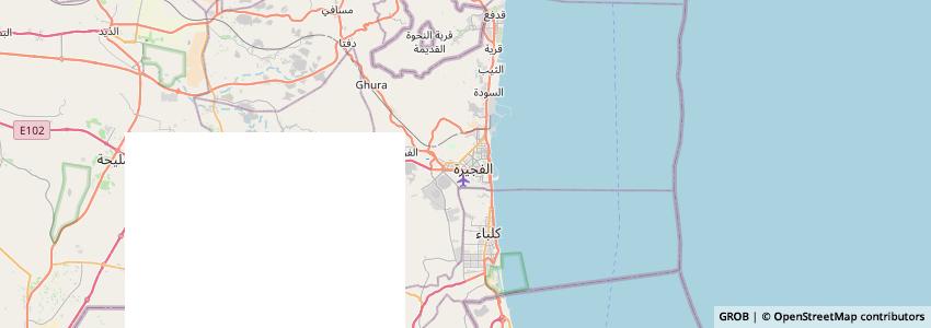 Mappa Fujairah Port Authority