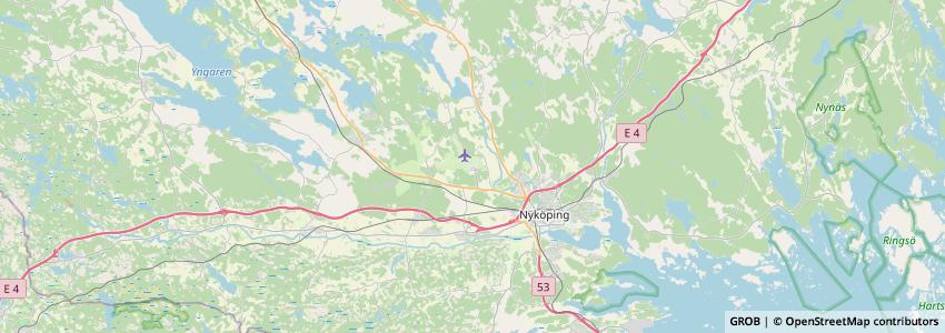 Mappa Stockholm Skavsta Airport