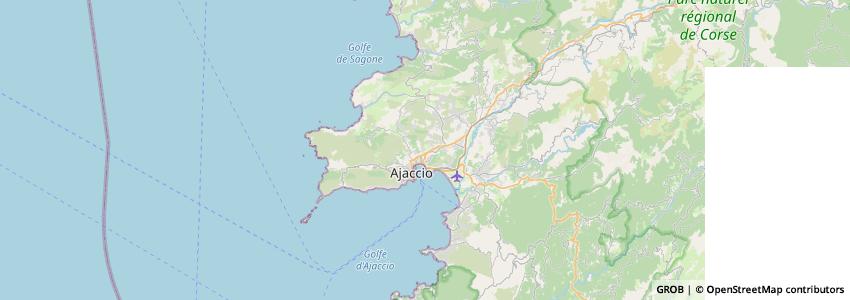 Mappa Centre Formation des Métiers D'Ajaccio