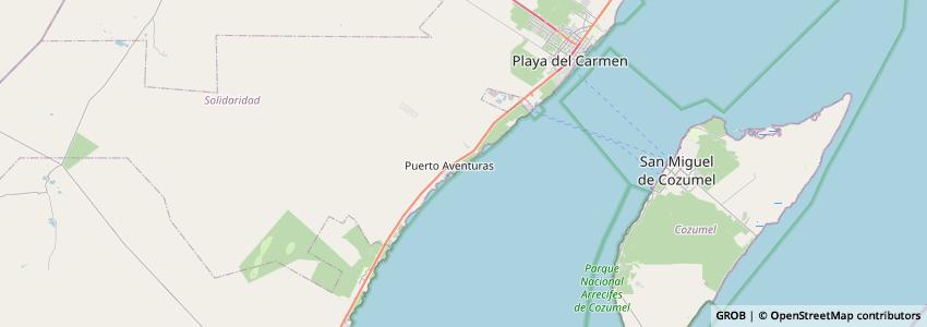 Mappa Hard Rock Hotel Riviera Maya