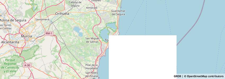 Mappa Concejalía De Comercio Ayto. Torrevieja