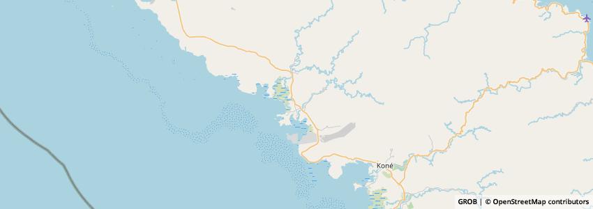 Mappa Le Gîte Du Koniambo