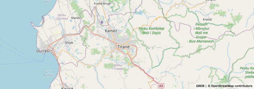 Mappa START TOUR ALBANIA