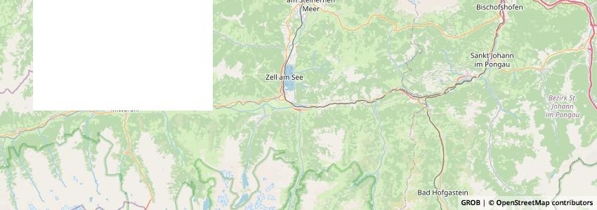 Mappa Tourismusverband Großglockner-Zellersee