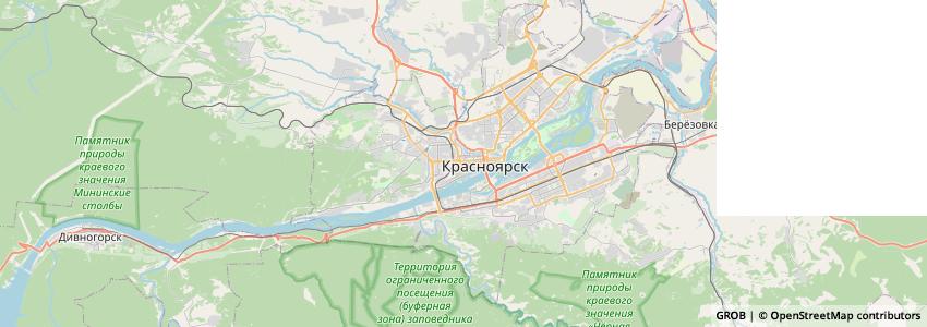 Mappa Министерство финансов Красноярского края