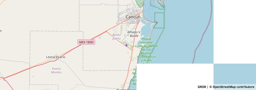 Mappa Airport Car Rental Cancun